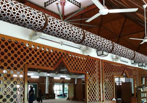 Prihoda Art | gepersonaliseerde airsocks in moskee - Prihoda HVAC